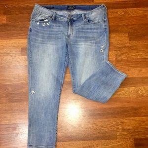 18W Lucky Brand Georgia Boyfriend Capri Jeans
